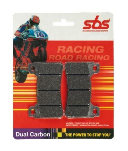 Rad. Cal SBS Pastillas De Freno Delantero Doble Carbon Racing YAMAHA YZF 1000 R1 2004-2006