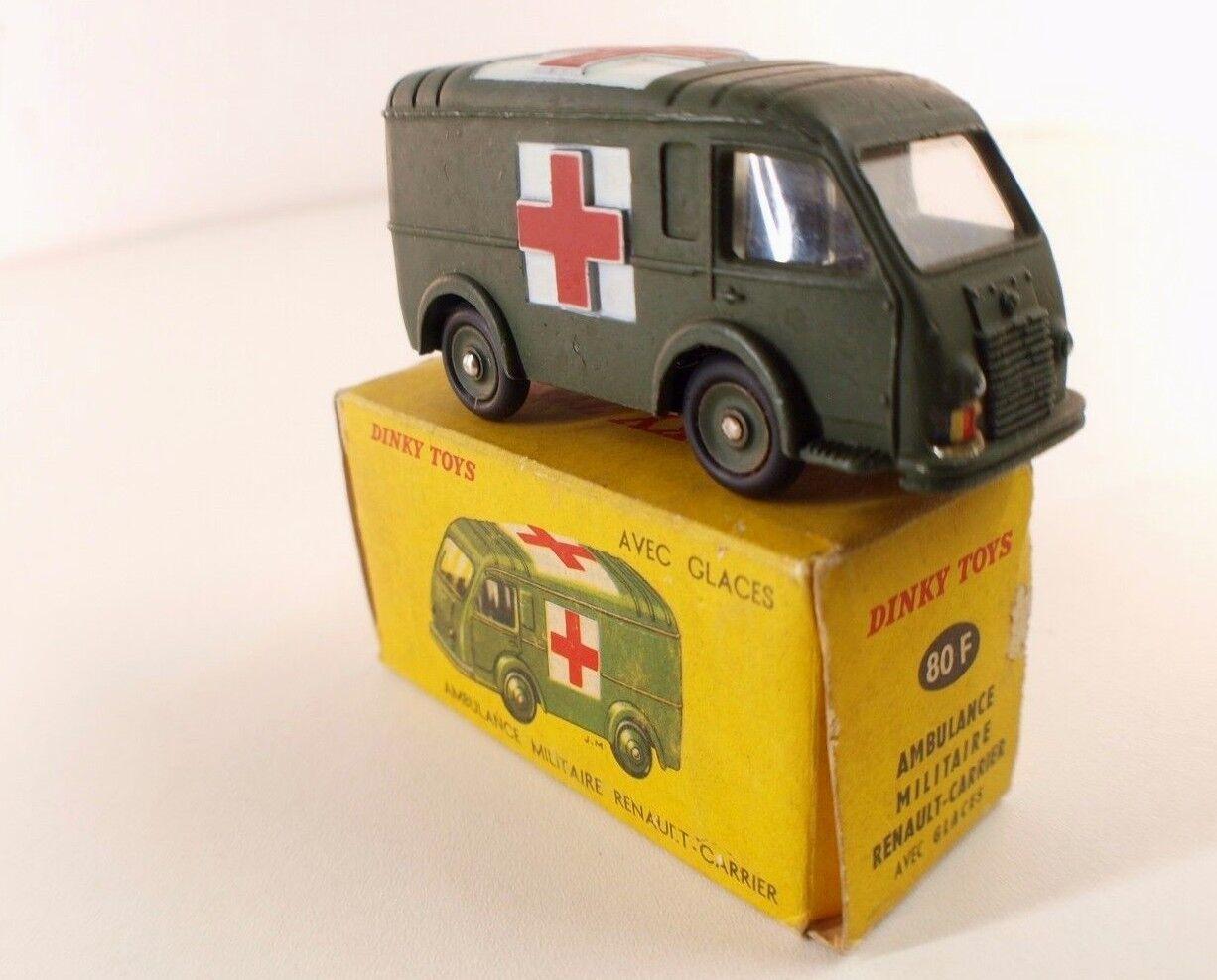 Dinky Toys F 80F Ambulance Renault Carrier militaire en boîte