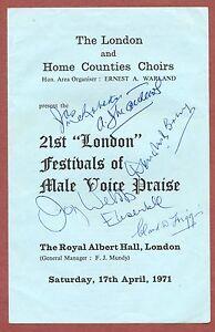 Captain-Joy-Webb-signed-4-others-signed-Male-Voice-Praise-London-1971-yb15
