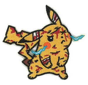 Details about Battle Damaged Pikachu Patch Pokemon ASH Hipster Goku Dragon  ball Z Anime Go App