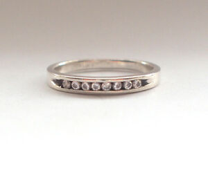 Stunning-925-Fine-Sterling-Silver-Vintage-White-Clear-Stone-Q-8-Ring-Simple