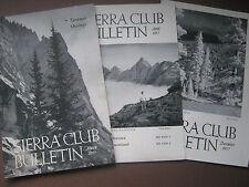 Lot of Three 1957 Sierra Club Bulletins Small Newsletter Type, Mar, April, Dec