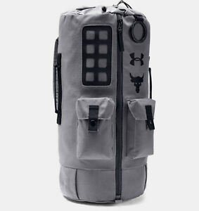 656beb33775b5 Under Armour Project Rock Backpack 60 Duffle Bag Grey 1345663-040 ...