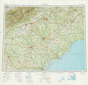 Charlotte In Usa Map.Russian Soviet Military Topographic Maps Sheet Charlotte Usa Ed