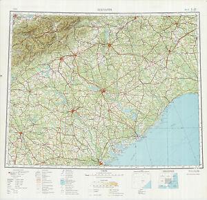 Russian Soviet Military Topographic Maps Sheet CHARLOTTE USA - Charlotte usa map