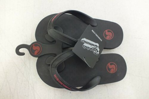 DVS Shoe Company Step Into Summer Kids Black Flip-Flop Sandals NEW Fast Shipping