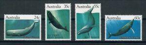 SMA1 Australia 1982 BALENE Marine Set di 4v SG 838-841, Gomma integra, non linguellato