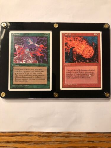Channel//Fireball Combo MTG 4th Ed Looks 8.5//9  NM//M RG 4RCards