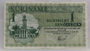Suriname-muntbiljet-1-gulden-8-april-1960