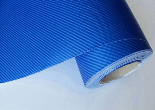4D Carbon Fiber Texture Matte Blue Vinyl Car Wrap Sticker Decal Film Sheet