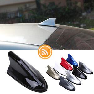 7-Colors-Universal-Car-Shark-Fin-FM-AM-Radio-Signal-Antenna-Roof-Aerial-Black