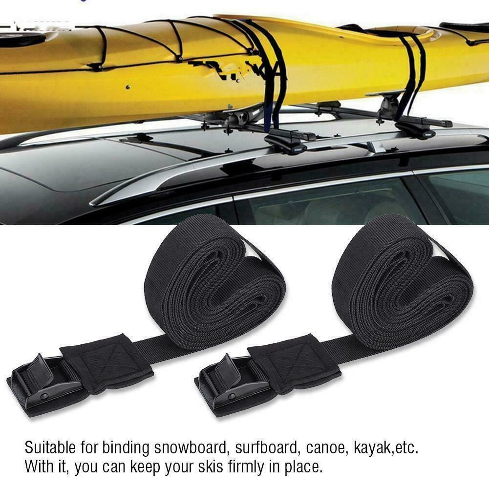 LINGVUM Tie Down Cam Straps for Kayak Cargo Roof Rack Straps 15 Feet SUP Board Surfboard Canoe Pair Black//Blue//Red
