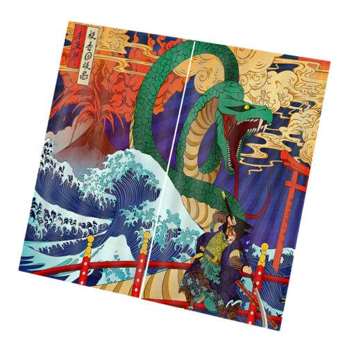 2 Stücke Panels Dekorative Japanische Ukiyoe Stil Digitaldruck Vorhang