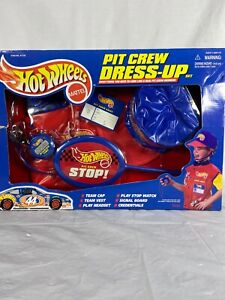 Hot-Wheels-Pit-Crew-Dress-Up-1998-In-Box-Box-Has-Damage-See-Photos-Vintage