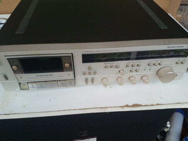 Vintage Harman Kardon CD391Cassette Deck For Parts Or Repair