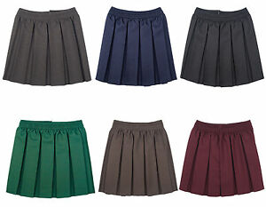 talla 40 90d67 a39f8 Detalles de Niña Tablas All Round Elástico Falda Uniforme Escolar Infantil  Faldas