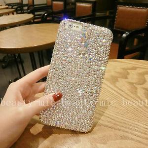 New-Rhinestone-Bling-Gril-039-s-Diamond-Jeweled-Crystal-Hard-Back-Phone-Case-Cover