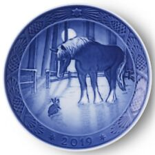 ROYAL COPENHAGEN 2019 Christmas Plate --   New in Box! Horse & Rabbit in Paddock