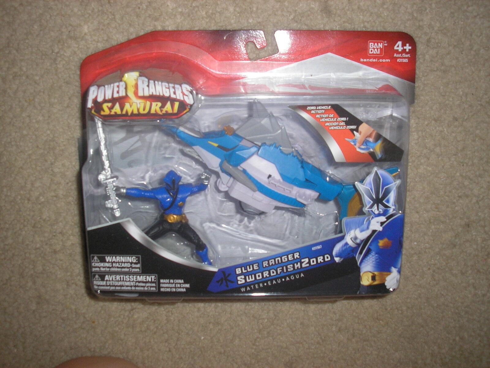 New Power Rangers Samurai bluee Ranger SwordfishZord