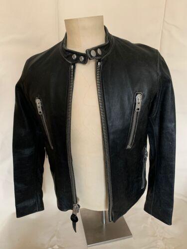 COACH Men's Racer Black Leather Jacket Size 46