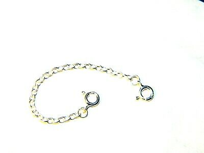 Heavy Sterling Silver Safety Extension Chain 8cm For Necklace Extender .925 Str.