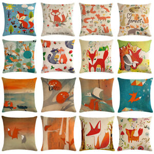 18-039-039-Cartoon-Fox-Linen-Cotton-Pillow-Case-Cushion-Cover-Sofa-Home-Decor-Square