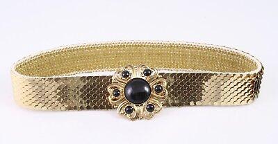 Dg94 Capannone Cintura In Vita Cintura Metallo Oro Elastici 65 - 90 Cm Vintage-mostra Il Titolo Originale