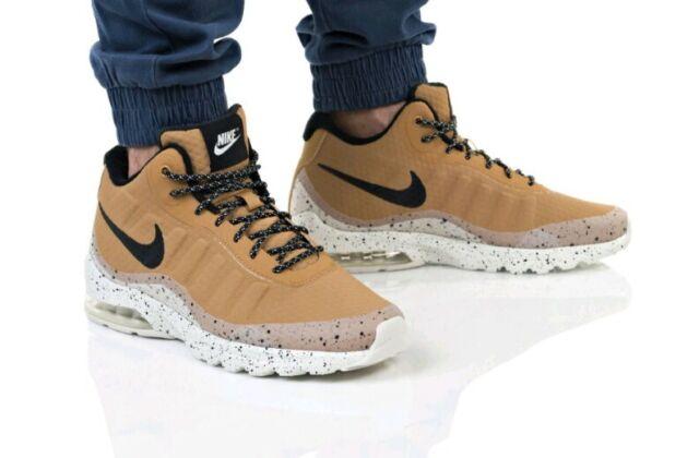 Size 9 Mens Nike Air Max Invigor Mid Wheat Black Light Bone 858654 700 casual