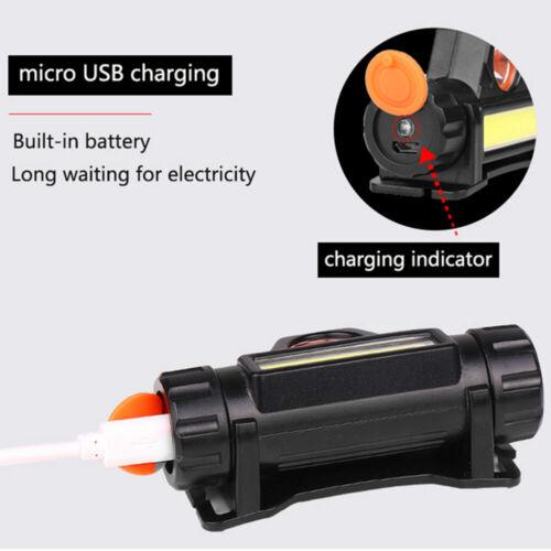 USB Rechargeable LED Headlamp Head Torch Flashlight Headlight Work light UK