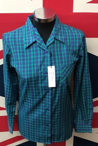 Formal Wear !!BUY ONE GET ONE FREE!! New Ladies Blue//Green Checked Style Shirt