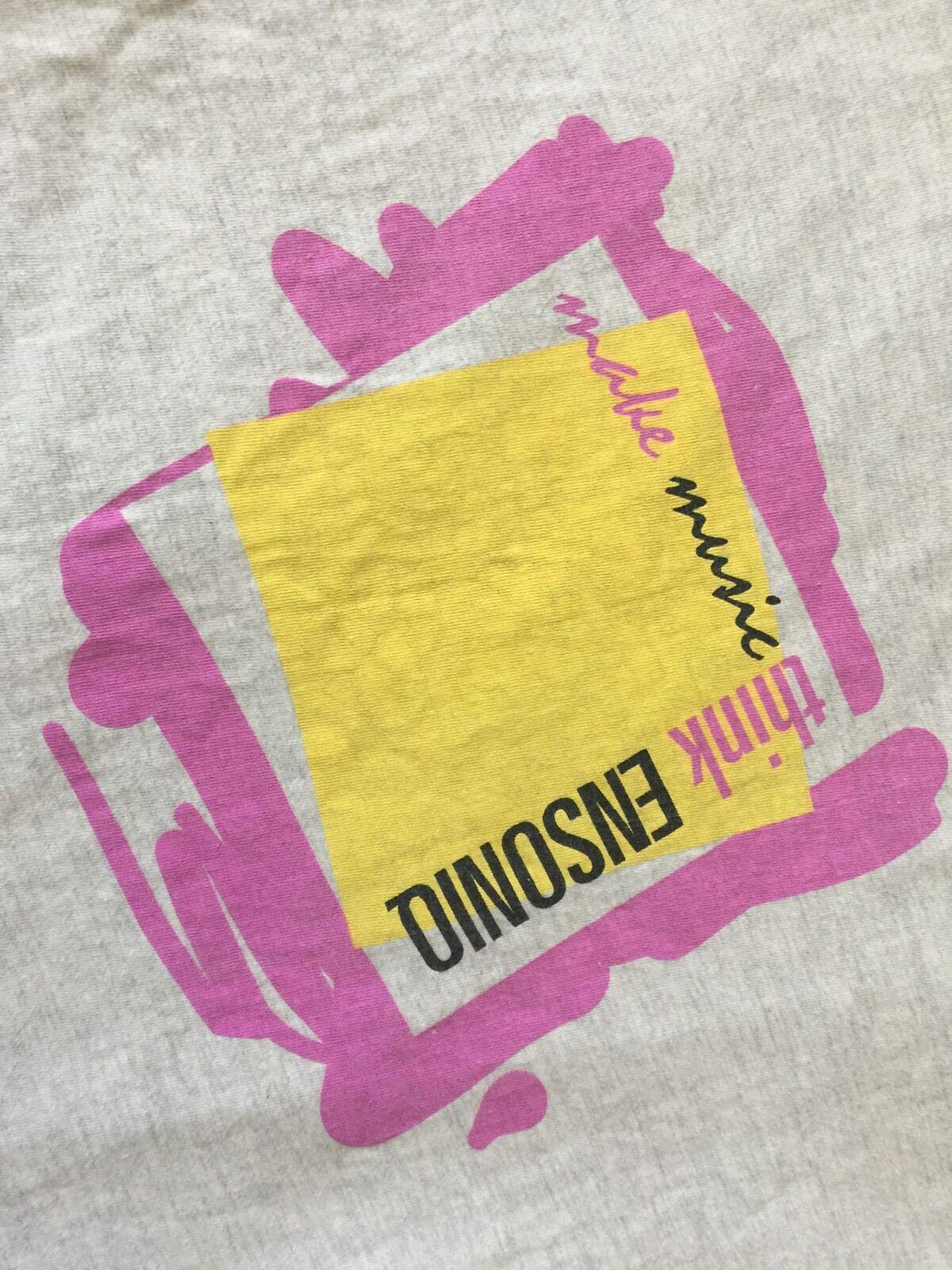 VTG. Make Music Think ENSONIQ World Class Instruments Adult Rare T- Shirt SZ XL