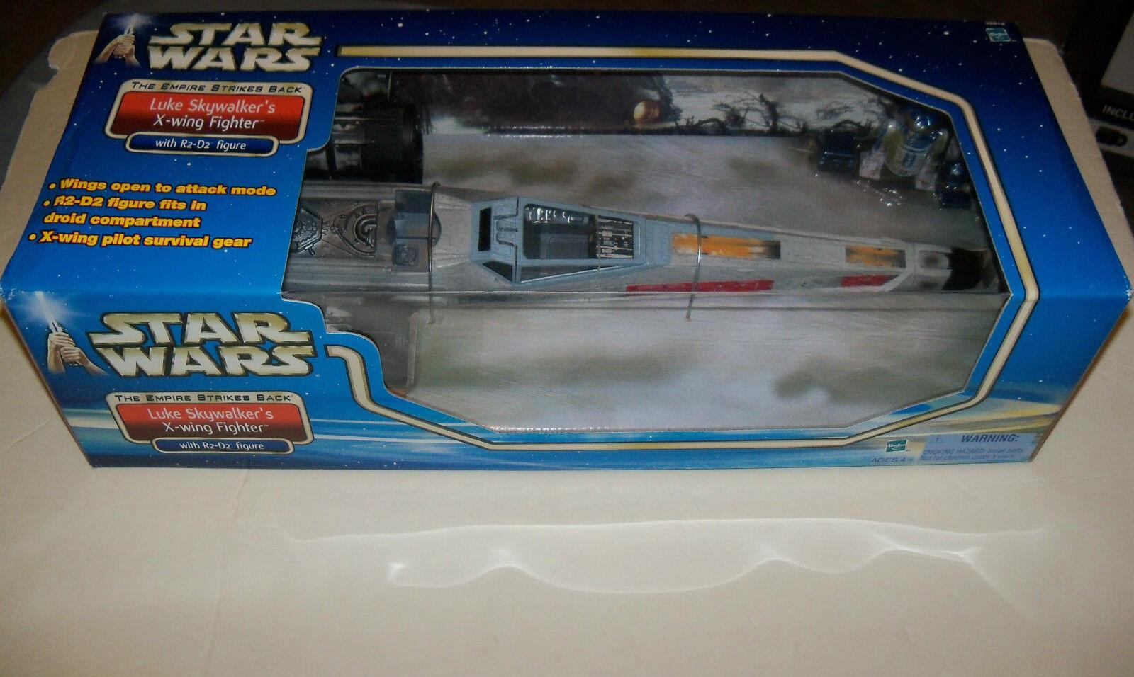 Retired Star Wars Luke RED 5 X-WING STARFIGHTER, R2-D2 + REBEL PILOTS Figure Lot