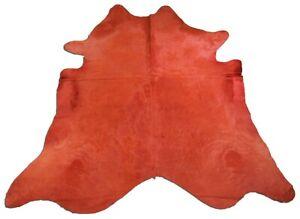 Orange Cowhide Rug Size 7 1 2 X 7 Dyed Burnt Orange Cowhide Rug K 022 Ebay