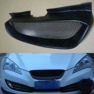 1x Car Front Upper Hood Black Mesh Grille Grid for Hyundai Genesis Coupe 2008-12