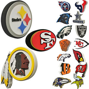 aa09c5f5 Brand New NFL 3D Fan Foam Logo Holding / Wall Sign Made in USA | eBay