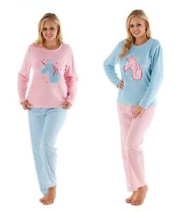 5d6dd9e36 Women s Unicorn Dreams Soft Touch Fleece Pyjamas