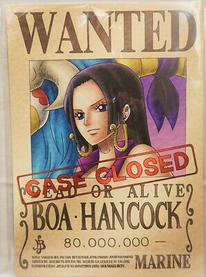 One Piece Wanted Poster Boa Hancock Official Mugiwara Store Brand New F S Ebay