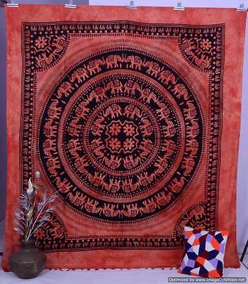 Indian Elephant Wall Hanging Hippie Mandala Tapestry Tapestries Bedspread Throw