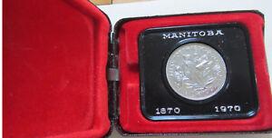 1970-Canada-Manitoba-Centennial-Commemorative-Dollar-Coin-UNC-Original-Case