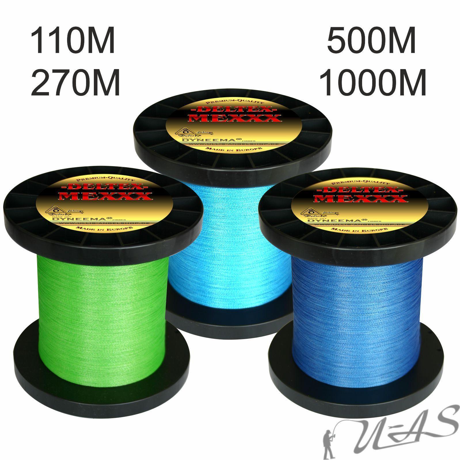 Deltex mexxx Top Teflon Rivestito circa intrecciato lenza verde & Blu KVA