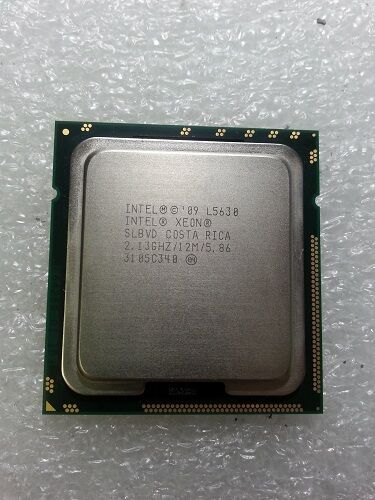 Lot of 4 /_ Intel Xeon SLBVD L5630 2.13 GHz //12M 5.86 LGA1366 Quad Core CPU