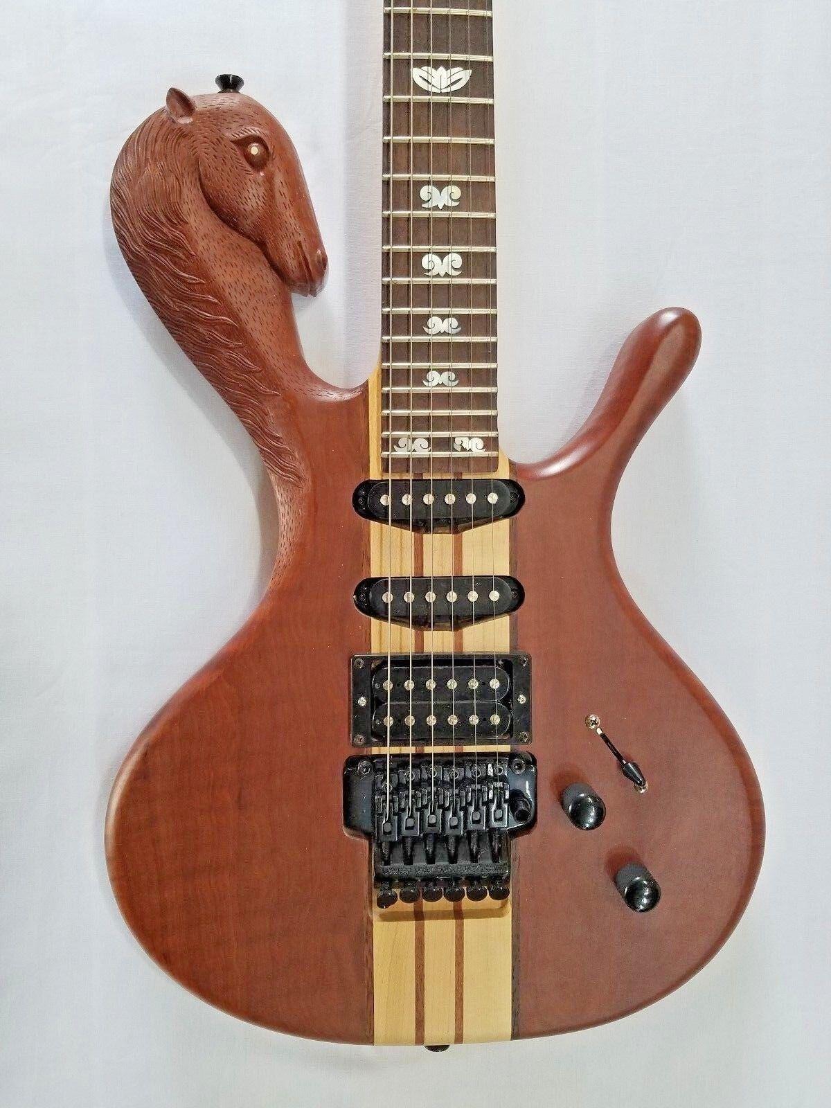 NEU Guitar, Carved Horse Hals thru, Perlmutt, Abaloninway