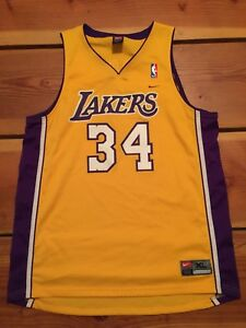 18f94259a VNTG🔥 Nike NBA Los Angeles Lakers Shaquille O Neal Jersey SZ XL ...