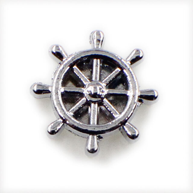 5pcs 8mm Rudder Pattern Slide Charms For Living Memory Free Shipping Zinc Alloy