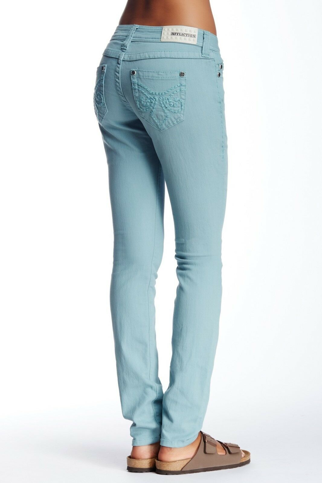 Affliction Women's Requel Fleur Teal Skinny jeans 29 x 31
