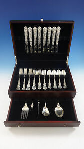 Strasbourg-by-Gorham-Sterling-Silver-Flatware-Place-Size-Set-8-Service-37-Pieces