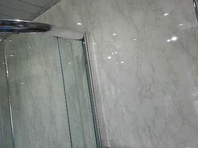 14 new white marble grey gloss waterproof bathroom panels pvc wall panels