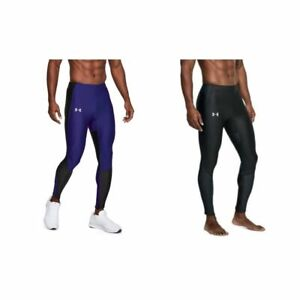 NEW-Under-Armour-Mens-Sz-L-CoolSwitch-Black-Blue-Running-Tights-Pants-1305223
