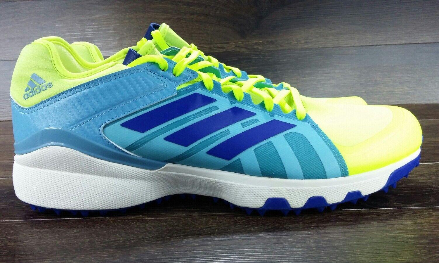 Adidas LUX Field Hockey Turf shoes Yellow Royal bluee SZ 10.5 ( AQ6510 )