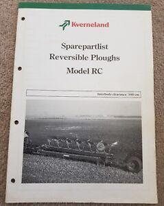 Kverneland Rc Charrue Catalogue De Pièces-afficher Le Titre D'origine